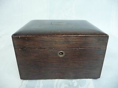VERY NICE VINTAGE WOODEN HUMIDOR - LINED - NO KEY