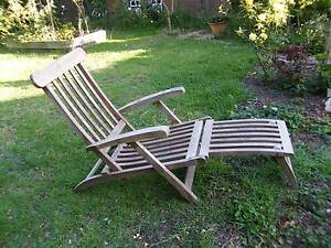 Outdoor - Vintage Wooden Folding Lounge Pakenham Cardinia Area Preview