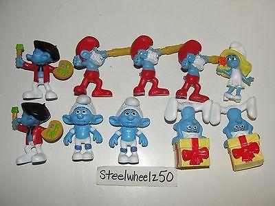 SMURFS McDonalds Happy Meal Toy 10 Figure Lot Smurfette Papa Panicky Painter HTF