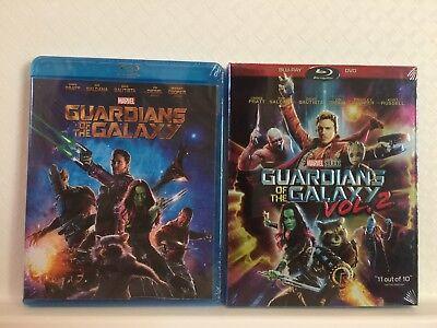 Guardians Of The Galaxy Vol 1   Vol  2 Blu Ray  Free Shipping