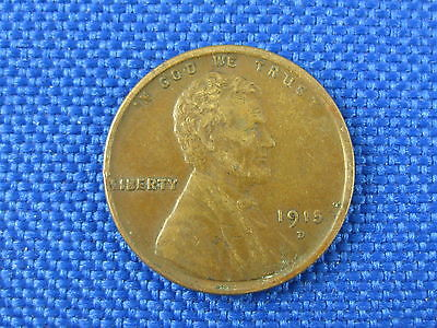 1915 D U.S. LINCOLN WHEAT CENT COIN