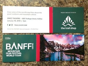 Two Banff Mountain Film Festival Tickets - Thursday Night