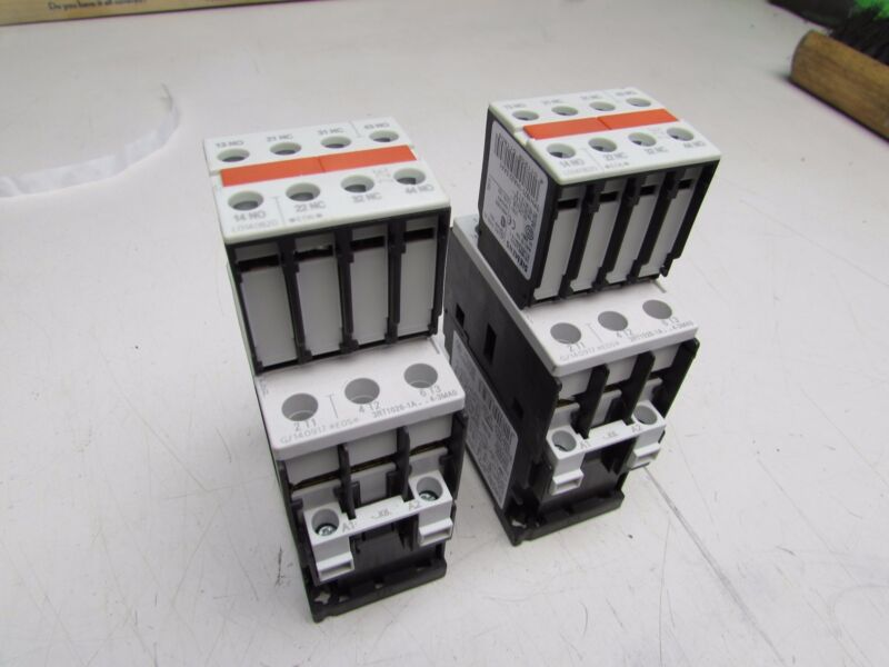 LOT OF 2 SIEMENS CONTACTORS 3RT1026-1AK64-3MA0 110VAC COIL XLNT USED TAKEOUTS !!