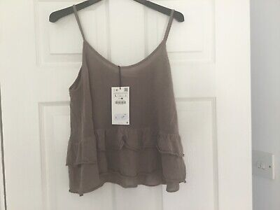 zara knit mink/taupe top size L new with tags matches culottes I am alSo selling