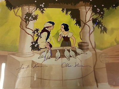 Disney Snow White And The Prince At The Well Animation Art Limited Edition Cel