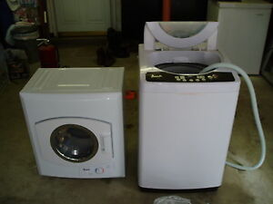 details about avanti apartment size washer dryer set local pick up