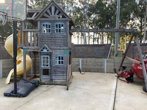 Cubby House and swings