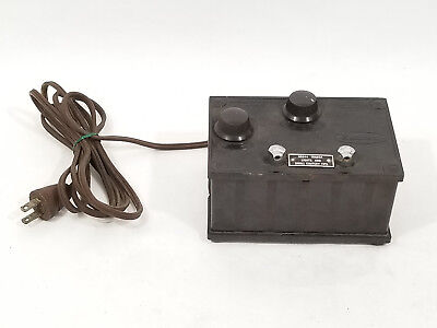 Vintage National Electric Instruments Co. Variable Voltage Switch Box