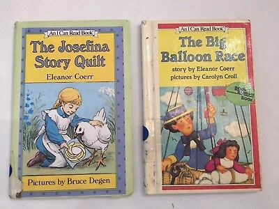 2 VINTAGE I CAN READ BOOKS - THE JOSEFINA STORY QUILT & THE BIG BALLOON RACE