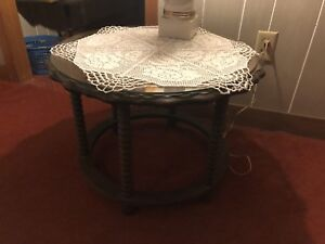 Antique spool-leg occasional table