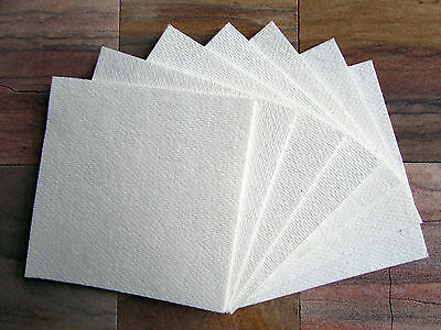 "Kiln Shelf Paper 40 Sheets 4 X 4"" • 1mm • Firing Temps Up To 2300°f Glass Fusing"