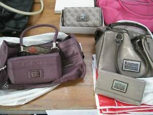 7 Items Comprising 2 X Guess Bags With Clutch 47 Wallet Like New 1 Rmk Bag Ex Con Bluebird