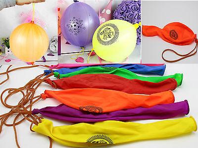 12Pcs Mixed Color Latex Balloons Punch Balls Birthday Party Favors - Punching Balloon