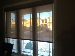 Double roller blinds (sun shade plus privacy shade)