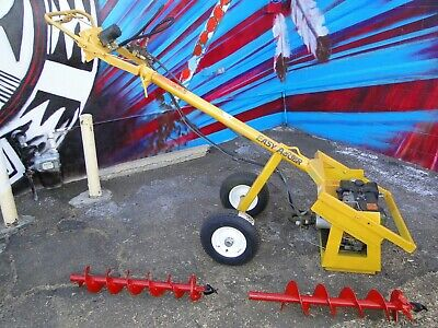 Post Hole Digger Earth Auger - Hydraulic - 8hp Briggs Easy Auger Brand Usa