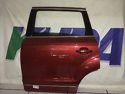 13-15 Audi Q7 4L Facelifted Complete Red Rear Left Door with Window & Electrics