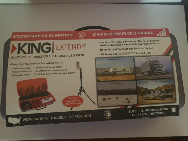 KING Extend Go Multi-Use Portable Cellular Signal Booster 5G Ready - KX3000