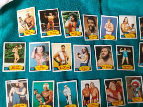 1985 Titan Sports Topps WWF COMPLETE 66 CARD SET!! Hulk Hogan Rookie