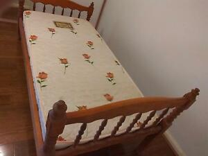 Quick Sale Solid Wooden Single Bed with Mattress Wahroonga Ku-ring-gai Area Preview