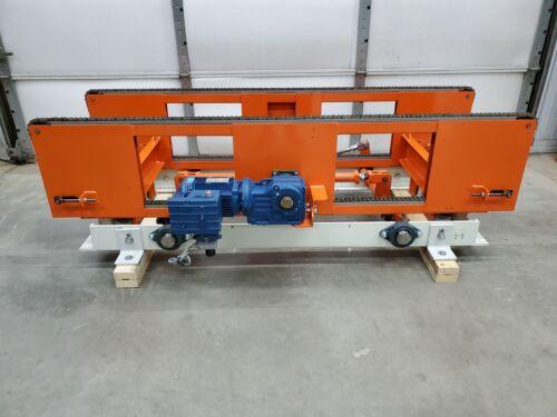 "Pneumatic Lift, Drag Roller Chain Conveyor Section, Pallet Transfer, 24"" x 78"""