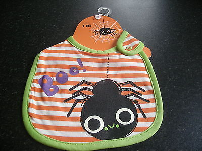 Marks And Spencer Halloween Baby (M&S HALLOWEEN BABY SPIDER BIB - BRAND NEW WITH ORIGINAL)