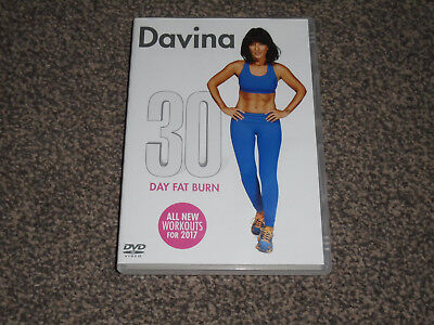 DAVINA : 30 DAY FAT BURN - WORKOUT EXERCISE FITNESS DVD - IN VGC (FREE UK P&P)