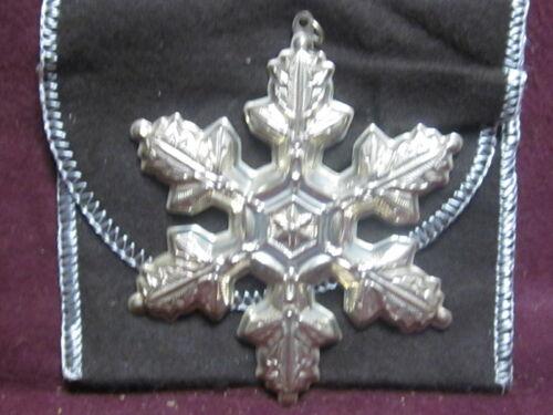 Gorham 1997 Sterling CHRISTMAS SNOWFLAKE  ORNAMENT  Annual Series