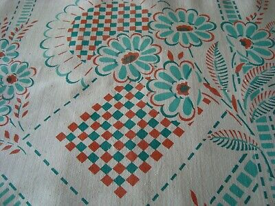 VINTAGE 30's 40's Counterpane Light Cotton Bedspread Bed Cover Throw  90