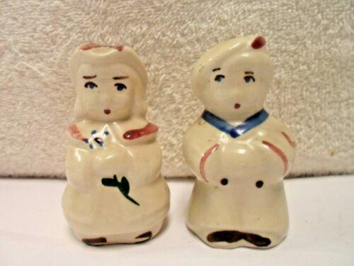 Antique Shawnee Hand Painted Salt & Pepper Shaker Set