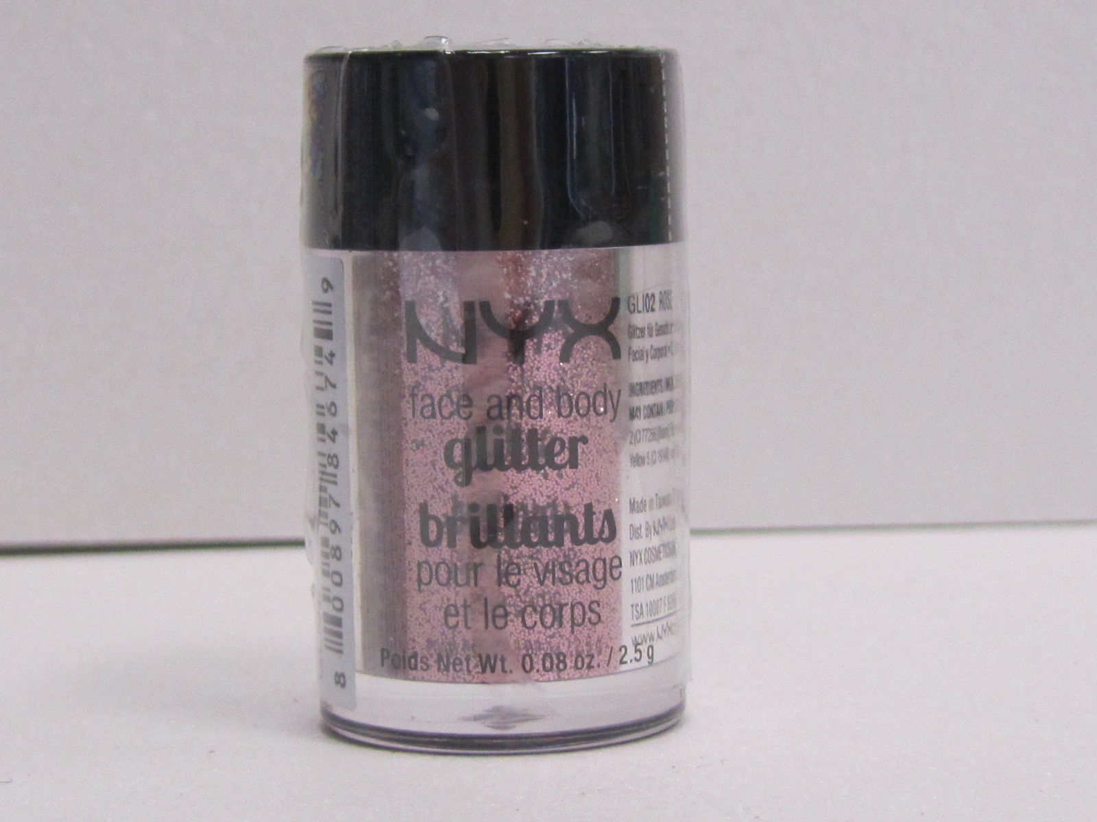 NYX Face and Body Glitter color GLI02 Rose 0.08 oz Brand New With Sealed