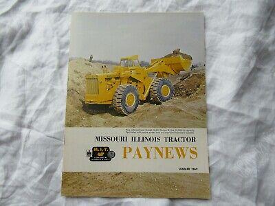 1969 Missouri Illinois Paynews Construction Equipment Magazine Brochure Hough
