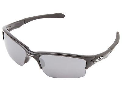Oakley Quarter Jacket Sunglasses (Youth Fit) Black Polished Black L (Oakley Youth Fit)