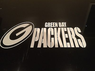 Green Bay Packers 3 5 X 7 White Car Decal Sticker