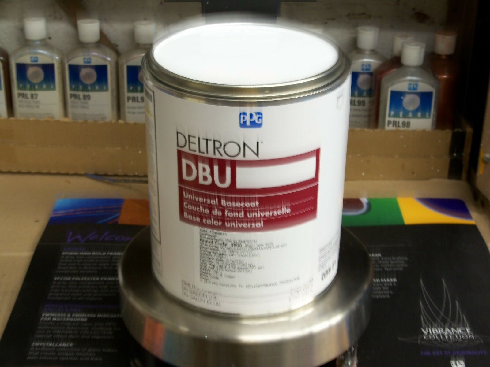 ppg deltron paint dbu gm code wa olympic white
