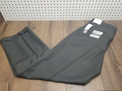 Perry Ellis Men's Classic Double Pleated Cuffed Pant, Castlerock, 36x30 - NWT Double Pleated Trouser