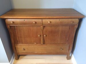 Antique Oak Sideboard / Buffet / Cupboard