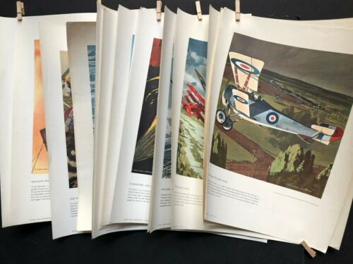 21 Heritage Of The Air Series Prints Military Aerial Transportation Aviation Vtg
