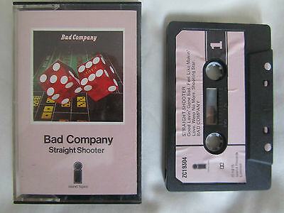 BAD COMPANY - STRAIGHT SHOOTER. 1975 ISLAND CASSETTE WITH PAPER LABELS