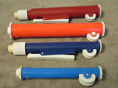 4 Pipet Pump Manual Pipette Filler Single Channel Adjustable Pipette-used