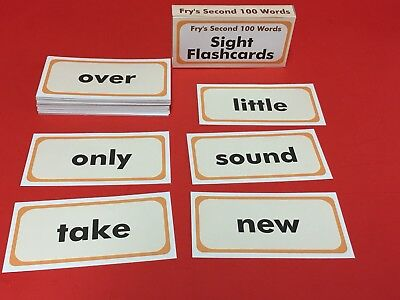 Fry's Second Hundred Words - Reading - Sight Word Flash Cards - 100 flash - Sight Word Flash Cards