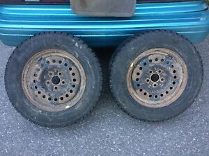 Two winter tires with rims