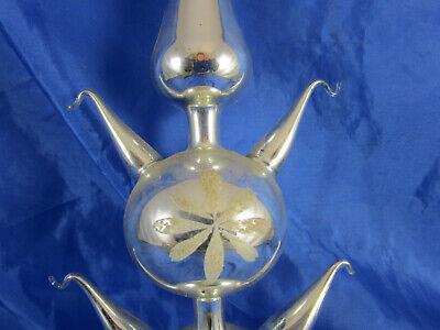 ze Weihnachtsbaumspitze Baumschmuck Lauschaer Glas Glocke (Glocke Christbaumschmuck)