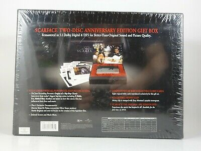 SCARFACE AL PACINO TWO-DISC ANNIVERSARY EDITION GIFT BOX MOVIE +Money Clip Extra