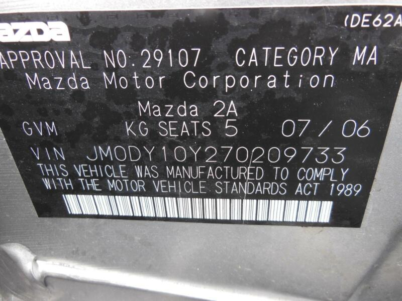 mazda 2 fuse box in engine bay 1 5 ltr petrol auto dy2 06 05 08 07 rh ebay com fuse box mazda 5 2007 fuse box on mazda 2