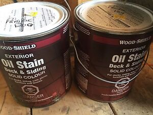 2 NEW Gallons Wood-Shield Exterior Oil Stain - 'Prairie Dog'