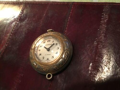 WATCH LA MARQUE Pendant SWISS 17 jewels engraved  case  WORKS FREESHIP!