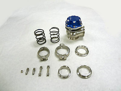 OBX Sports 40MM WASTEGATE EXTERNAL WG40 V Band Comp Gate Blue Fit All