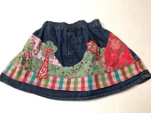 Oilily Elastic Waist Denim Skirt Size 80/ US 12 months~Boutique Brand