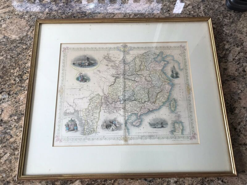 Tallis & Co. Antique Map of China and Burma