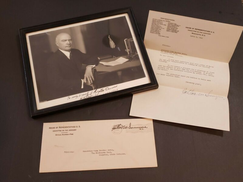 1942 Congressman Hatton W. Sumners Signed Photo With Letter